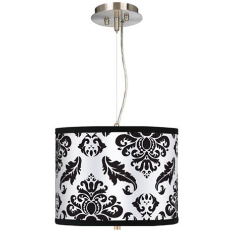 "Black Filigree 13 1/2"" Wide Pendant Chandelier"