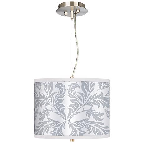 "Silver Baroque 13 1/2"" Wide Pendant Chandelier"