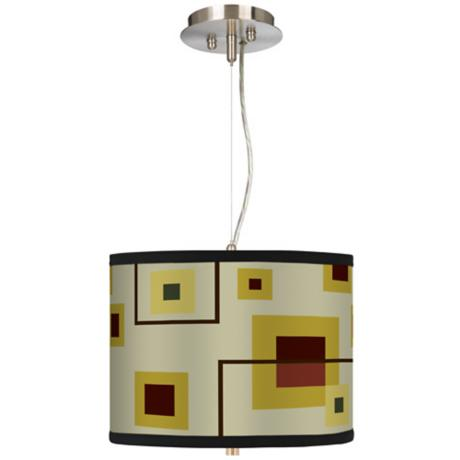 "Windows 13 1/2"" Wide Pendant Chandelier"