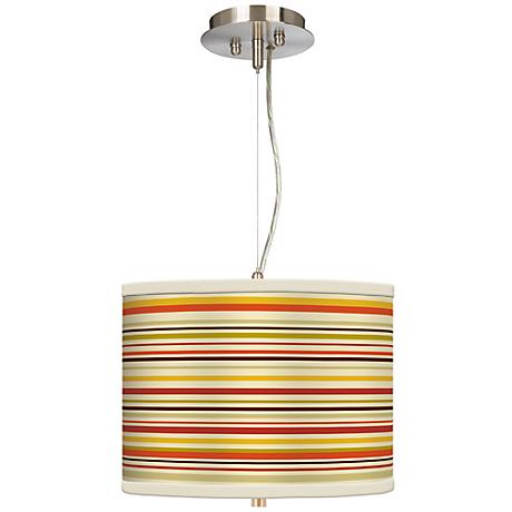 "Stacy Garcia Lemongrass Stripe 13 1/2"" Pendant Chandelier"