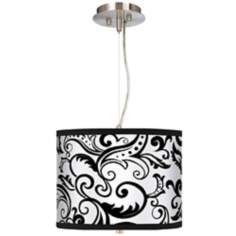 "Regency Black 13 1/2"" Wide Pendant Chandelier"