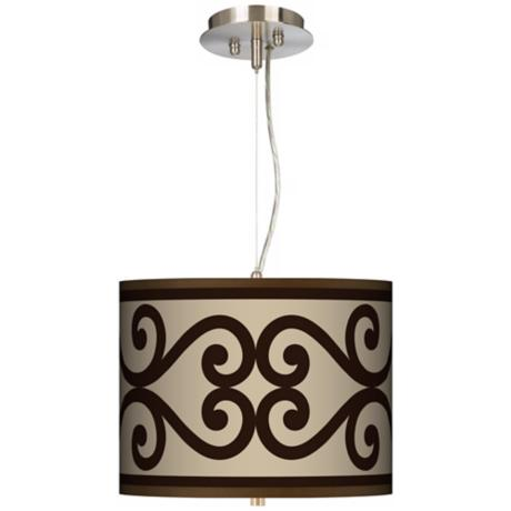 "Cambria Scroll 13 1/2"" Wide Pendant Chandelier"