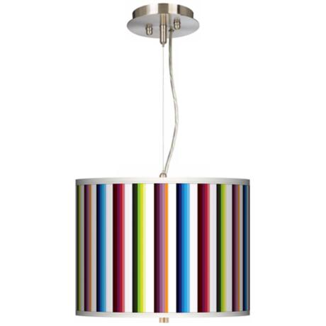 "Technocolors 13 1/2"" Wide Pendant Chandelier"