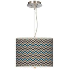 "Zig Zag 13 1/2"" Wide 2-Light Pendant Chandelier"