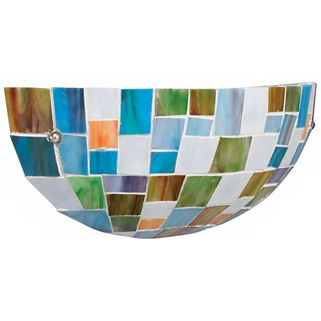 "Kichler Mosaic Glass 5 1/2"" High Wall Sconce"