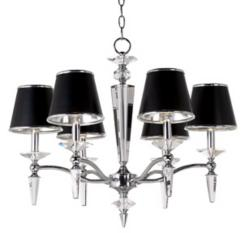 Manhattan Chrome Six Light Chandelier