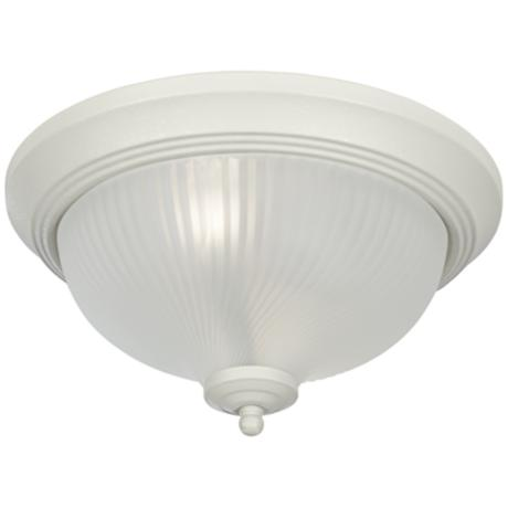 White Flushmount Swirled Dome Ceiling Light Fixture