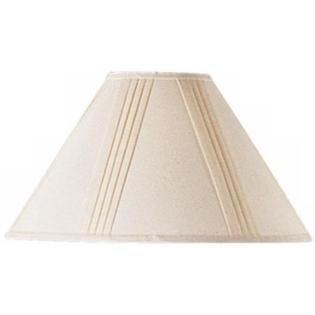 Linen Side Pleated Empire Shade 6x19x12 (Spider)