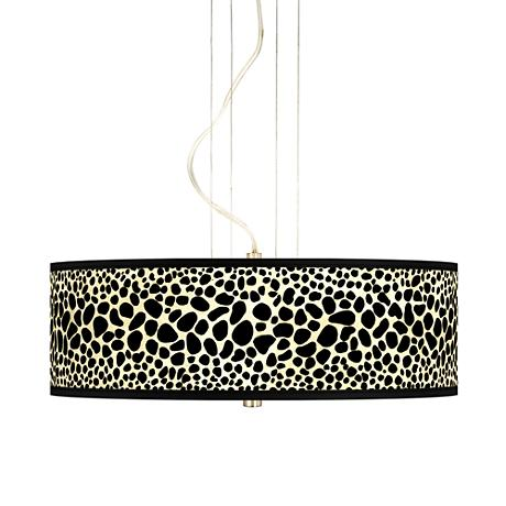 "Leopard 20"" Wide 3-Light Pendant Chandelier"