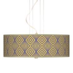 "Deco Revival 20"" Wide 3-Light Pendant Chandelier"