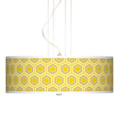 "Honeycomb 20"" Wide 3-Light Pendant Chandelier"