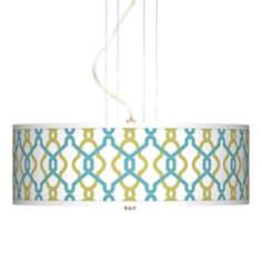 "Hyper Links 20"" Wide 3-Light Pendant Chandelier"