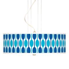 "Jet Set 20"" Wide 3-Light Pendant Chandelier"
