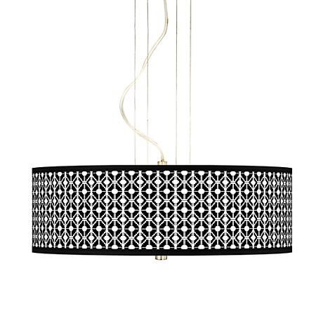 "Matrix 20"" Wide 3-Light Pendant Chandelier"