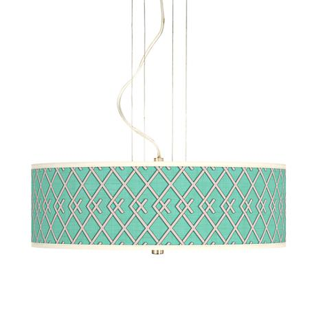 "Crossings 20"" Wide 3-Light Pendant Chandelier"