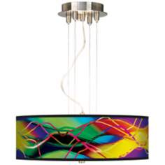 "Colors In Motion 20"" Wide Three Light Pendant Chandelier"