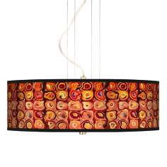 "Vibrating Colors 20"" Wide 3-Light Pendant Chandelier"