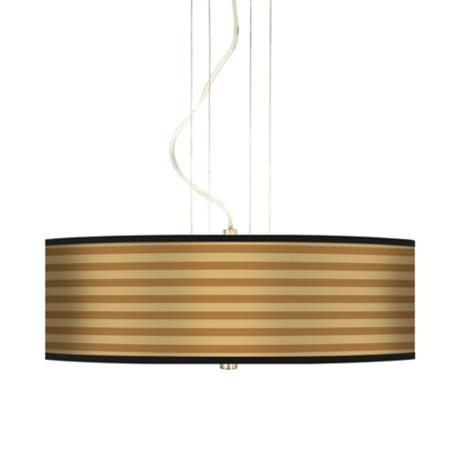 "Butterscotch Parallels 20"" Wide 3-Light Pendant Chandelier"