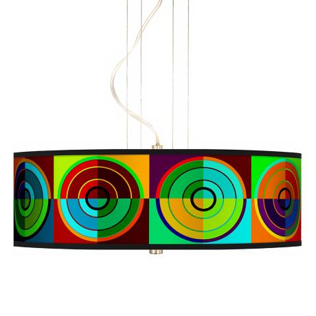 "Circle Parade 20"" Wide 3-Light Pendant Chandelier"