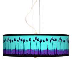 "Palm Tree Haze 20"" Wide 3-Light Pendant Chandelier"