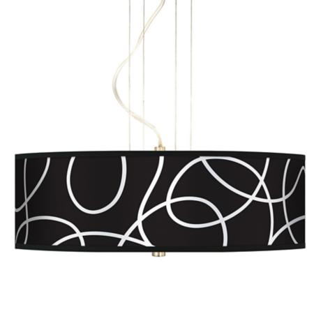 "Abstract 20"" Wide 3-Light Pendant Chandelier"