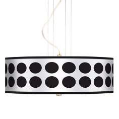"Black Orbs 20"" Wide 3-Light Pendant Chandelier"