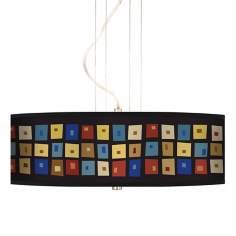 "Palette Squares 20"" Wide 3-Light Pendant Chandelier"
