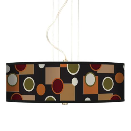 "Retro Medley 20"" Wide 3-Light Pendant Chandelier"