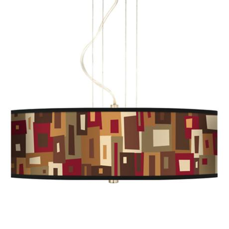 "Earth Palette 20"" Wide 3-Light Pendant Chandelier"