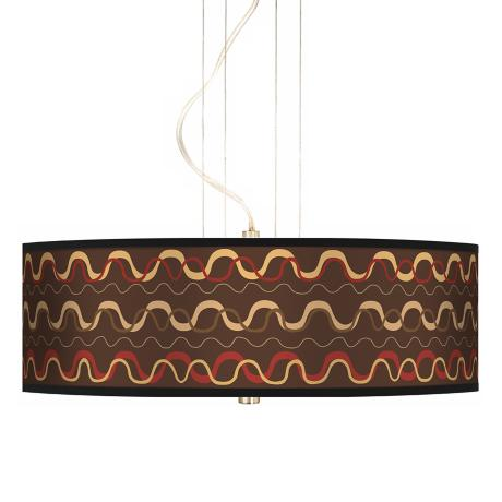 "Wave Stitch 20"" Wide 3-Light Pendant Chandelier"