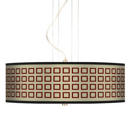 "Simply Squares 20"" Wide 3-Light Pendant Chandelier"