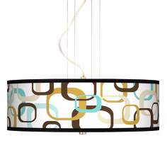 "Countess Square Scramble 20"" Wide 3-Light Pendant Chandelier"
