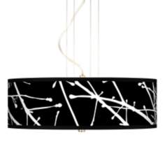 Stacy Garcia Calligraphy Tree Black Pendant Chandelier