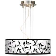 "Three Tone Leaves 20"" Wide 3-Light Pendant Chandelier"