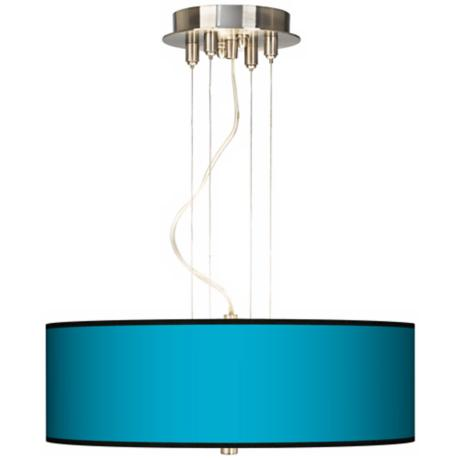 "All Aqua 20"" Wide Three Light Pendant Chandelier"