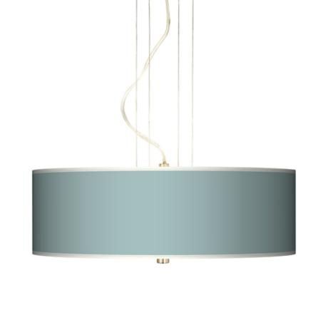 "Festoon Aqua 20"" Wide Three Light Pendant Chandelier"