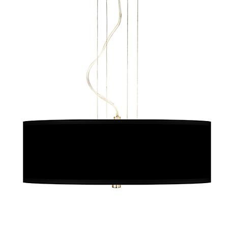 "Black Canvas 20"" Wide Three Light Pendant Chandelier"