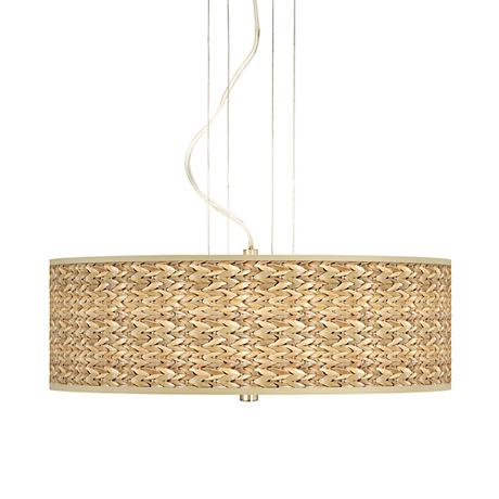 Seagrass 20 Quot Wide 3 Light Pendant Chandelier 17822
