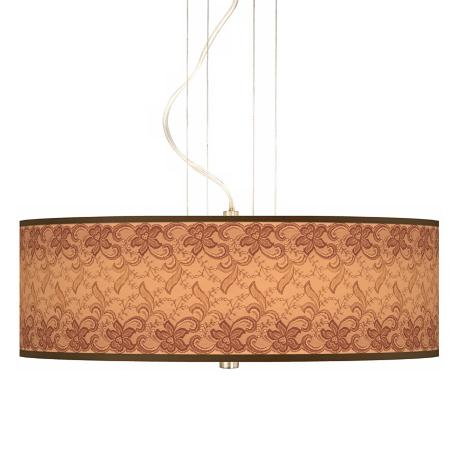 "Sepia Lace 20"" Wide 3-Light Pendant Chandelier"