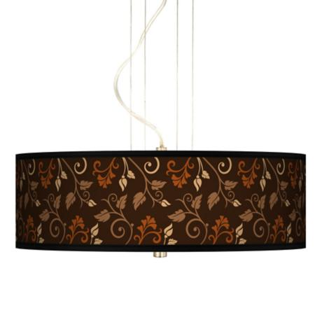 "Foliage 20"" Wide 3-Light Pendant Chandelier"