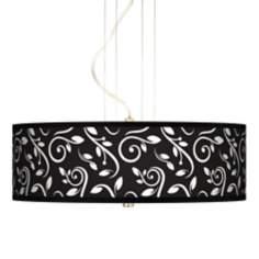 "Swirling Vines 20"" Wide 3-Light Pendant Chandelier"
