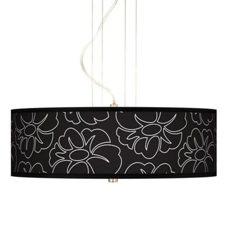 "Summer Silhouette 20"" Wide 3-Light Pendant Chandelier"
