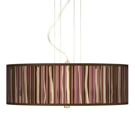 "Kalahari Lines 20"" Wide 3-Light Pendant Chandelier"