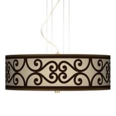 "Cambria Scroll 20"" Wide 3-Light Pendant Chandelier"