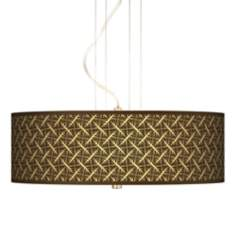 "Tan Wailia 20"" Wide 3-Light Pendant Chandelier"