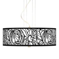 "Jungle Moon Giclee 20"" Wide 3-Light Pendant Chandelier"