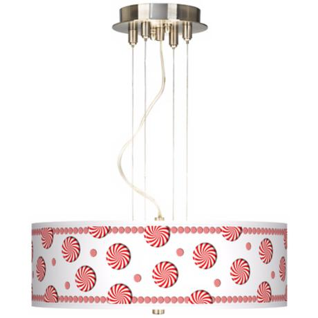 "Peppermint Pinwheels 20"" Wide 3-Light Pendant Chandelier"