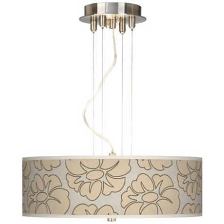 "Floral Silhouette 20"" Wide 3-Light Pendant Chandelier"