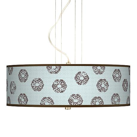 "Weathered Medallion Giclee  20"" Wide Pendant Chandelier"