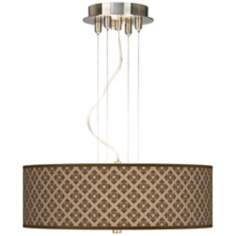 "Grevena Giclee 20"" Wide Three Light Pendant Chandelier"